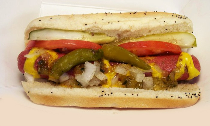 Mustard's Last Stand - Evanston: $10 for a Meal of Cheeseburgers, Hot Dogs, and Drinks at Mustard's Last Stand ($21.80 Value)