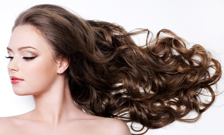 Haircut and Condition, Color and Glaze or Partial or Full Highlights and Glaze at Salon Notre' (Up to 62% Off)