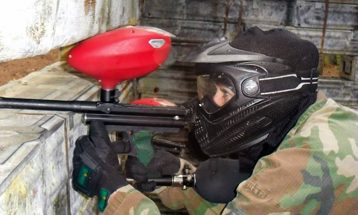 Skirmish Paintball Ipswich - Ufford: Paintballing For Up to 10 With 100 Balls Each for £19 at Skirmish