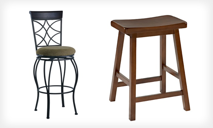 Linon Bar and Counter Stools: Linon 30-Inch Bar or 24-Inch Counter Stool (Up to 59% Off). Free Shipping.