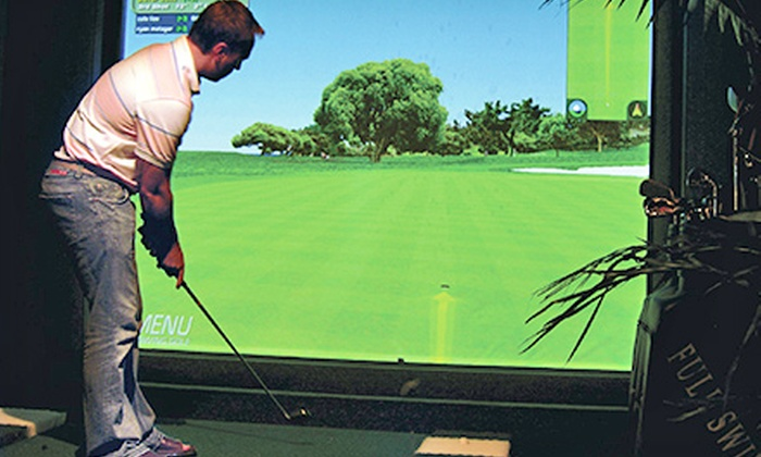 Bogies Indoor Golf Club - Oswego: 18 Holes of Indoor Simulator Golf for 2, 4, 8, or 12 at Bogies Indoor Golf Club (Up to 53% Off)