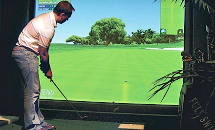 18 Holes of Indoor Simulator Golf for 2, 4, 8, or 12 at Bogies Indoor Golf Club (Up to 53% Off)