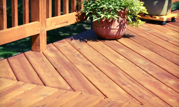 Contracting Team - Charlotte: Deck Cleaning with Sealing or Staining for a Small, Medium, or Large Deck from Contracting Team (Up to 58% Off)