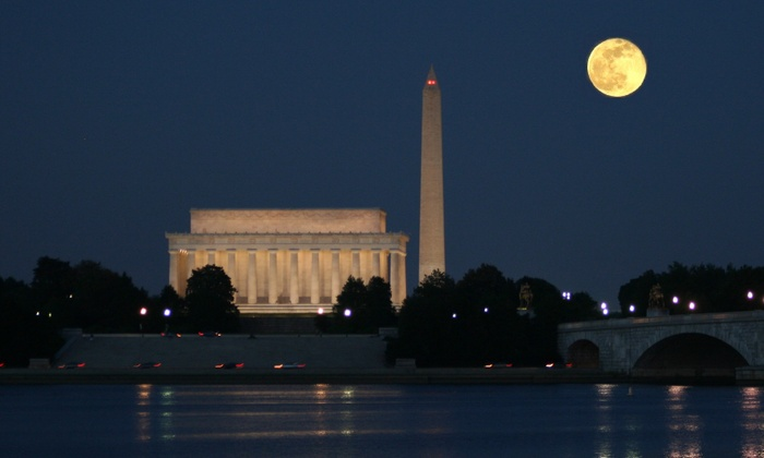 DC Cruises - DC Cruises: Monuments by Moonlight, DJ Nights, or Happy Hour Cruise for One, Two, or Four from DC Cruises (Up to 51% Off)