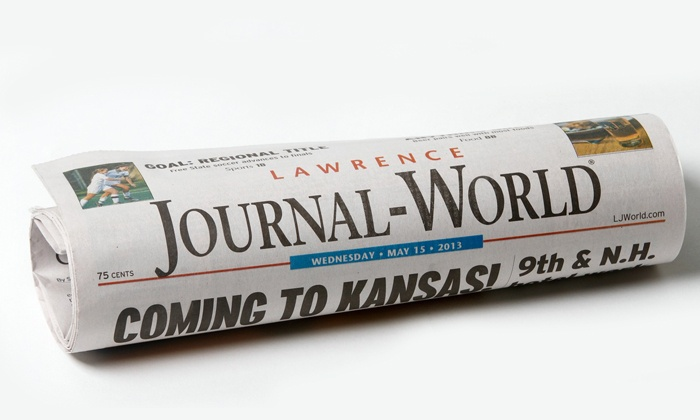 "<i>Lawrence Journal-World</i> - Lawrence: 26- or 52-Week Print Subscription for Weds. and Sun. Papers from ""Lawrence Journal-World"" (Up to 54% Off)"