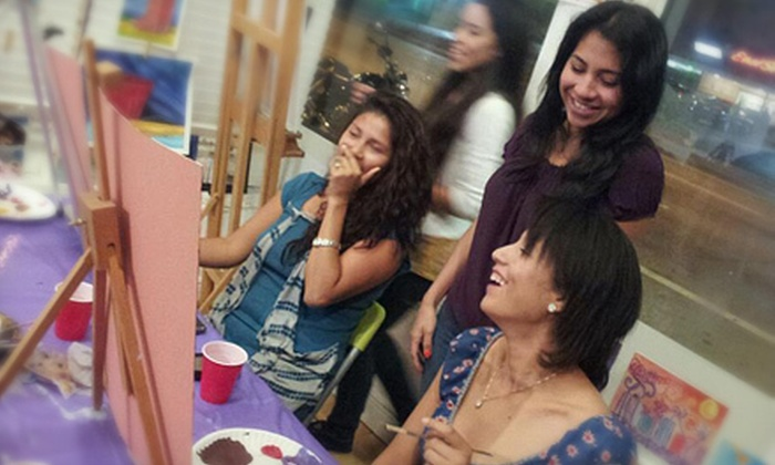 A Painting Fiesta - Multiple Locations: $15 Towards Adult or Children's Art Class