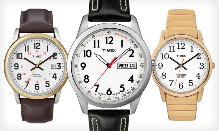 Timex Classic EZ Reader Watch: Timex Classic EZ Reader Watch (Up to 52% Off). Seven Options Available. Free Shipping.