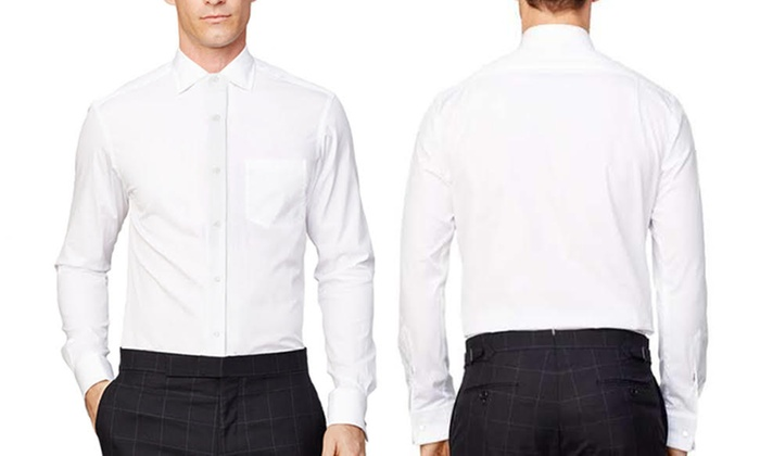 Men's Classic Fit White Dress Shirts (3-Pack) | Groupon