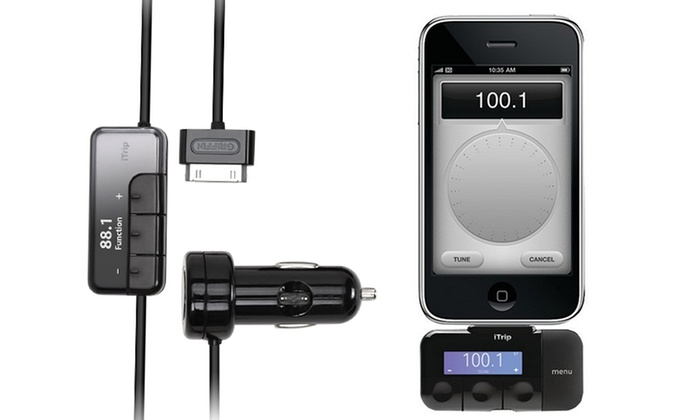 sports shoes 8338b d7b6a iTrip iPhone/iPod FM Transmitter | Groupon Goods