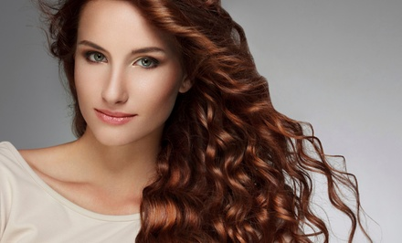 Haircut with Optional Partial Highlights or Single-Process Color at Axis Salon (Up to 51% Off)