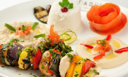 Mediterranean Dinner Cuisine Sunday–Thursday or Friday and Saturday at Fadi's Mediterranean Grill
