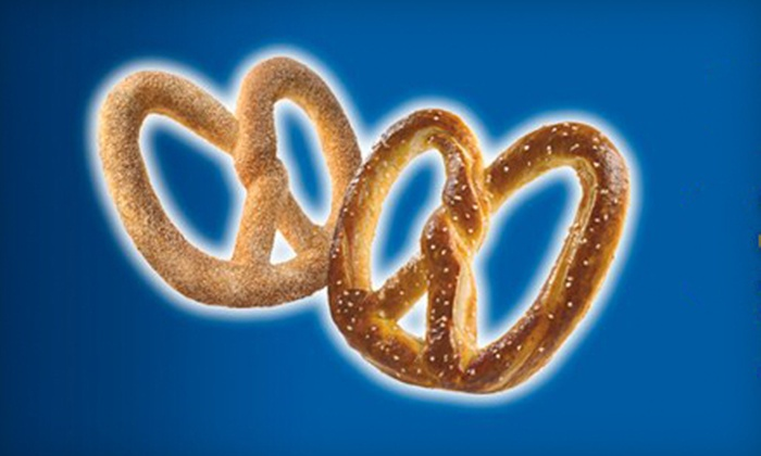 Auntie Anne's - Pierpont Bay: One Pretzel with Drink or Six Pretzels at Auntie Anne's (Up to 51% Off)