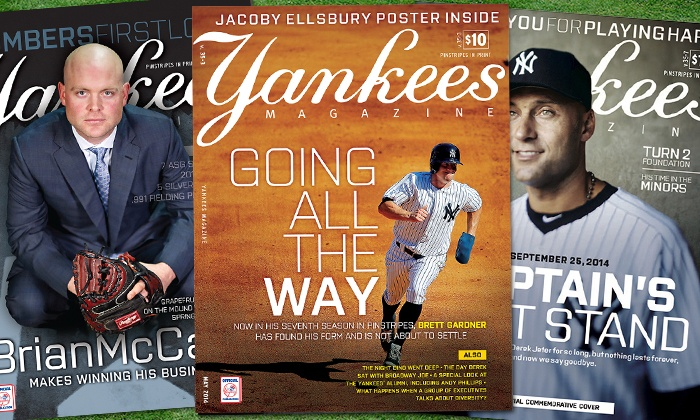 """Yankees Magazine: $29.99 for a One-Year Print Subscription to """"Yankees Magazine"""" from the New York Yankees ($49.99 Value)"""