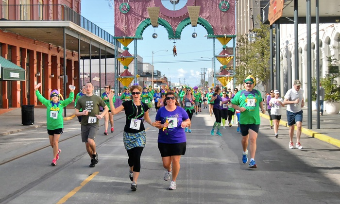 Mardi Gras! Galveston Fun Run - Downtown Galveston: Entry for One, Two, or Four in the Jolly Jester Jaunt Fun Run from Yaga's Presents on February 22 (Up to 52% Off)