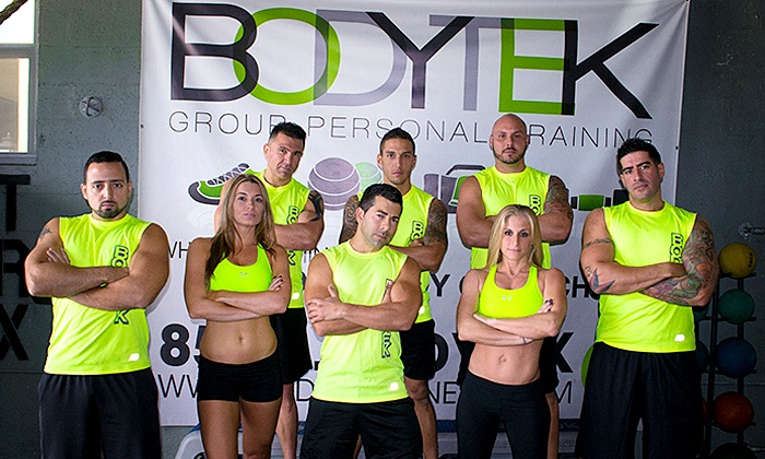 Bodytek Fitness - Multiple Locations: 8 or 12 Group Training Classes at Bodytek Fitness (Up to 60% Off)