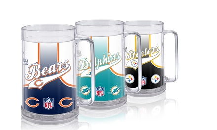 2-Pack of Double-Wall NFL Beer Mugs