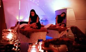 Alchimia Benessere: Massaggio di coppia a scelta in stanza riservata, trattamenti viso corpo e prosecco (sconto fino a 83%)
