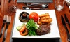 10oz Sirloin Steak With Wine For Two