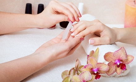 Classic Manicure with Paraffin Dip and Express Pedicure for One or Two People at Salon Kristen (Up to 53% Off)
