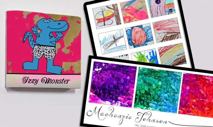 Artzy Love: $50 for $100 for Custom Canvas,Poster Reproduction, or Books of YourChildren's Art from Artzy Love