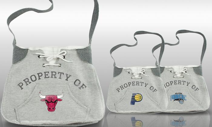 NBA Hoodie Sling Bags: NBA Hoodie Sling Bag. Multiple Teams Available.