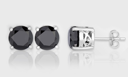 1.50 Carat Black Diamond Stud Earrings by Femme Luxe