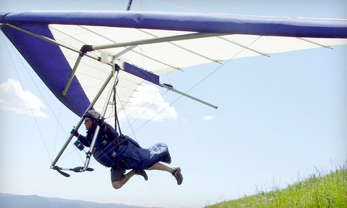 Raven Aviation - Lumby: Introductory Hang-Gliding Lesson for One or Two from Raven Aviation (Up to 53% Off)