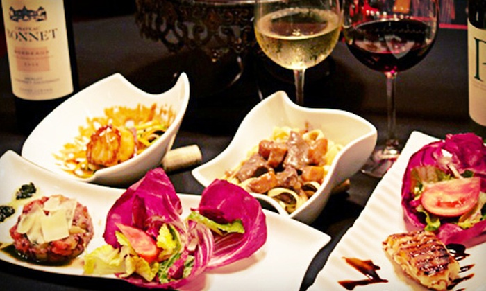 Bistro 1902 - Downtown Hollywood: French Dinner for Two with Salads, Entrees, and Unlimited Wine (Up to $95.80 Value)