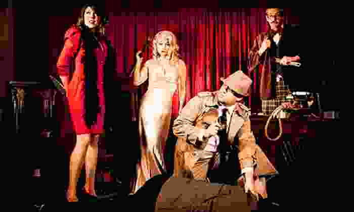The Murder Mystery Company - Ikaros Restaurant: Dinner Show for One or Two from The Murder Mystery Company (52% Off)