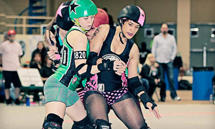 Assassination City Roller Derby - Downtown: Assassination City Roller-Derby Match with Autographed Poster at The Coliseum on June 23 or July 21 (Up to 55% Off)