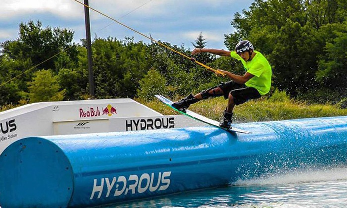 Hydrous Wake Park - Multiple Locations: $55 for a Cable-Wakeboarding Package for Two at Hydrous Wake Park (Up to $110 Value)