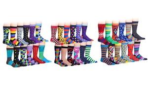 J. Korn Men's Cotton-Blend Dress Socks (12-Pack)