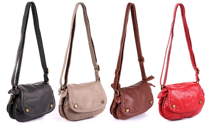 Charlotte Pre-Washed Women s Foldover Crossbody Bag II. Karla Hanson  Crossbody Bag II 1d1b8e0edce2b