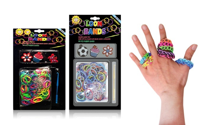 2-Pack of Loom-Band Accessory Kits: 2-Pack of Loom-Band Accessory Kits with Bands, Charms, and Loom Tool. Free Returns.