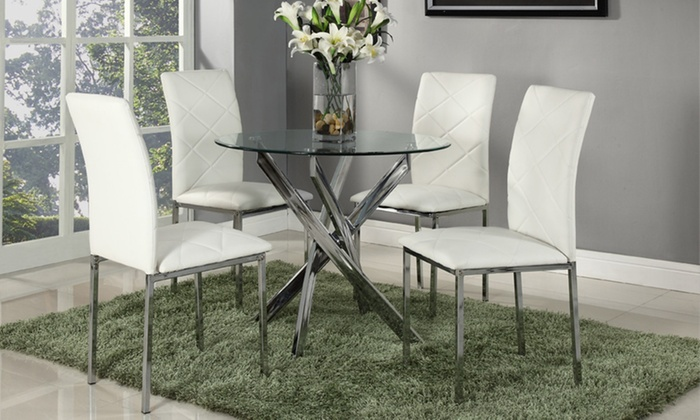 Glass Dining Table And Chairs Groupon