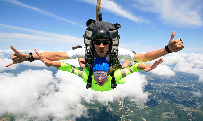 Skydive Pepperell - Pepperell: $159 for a Tandem Skydive Jump from Skydive Pepperell ($235 Value)