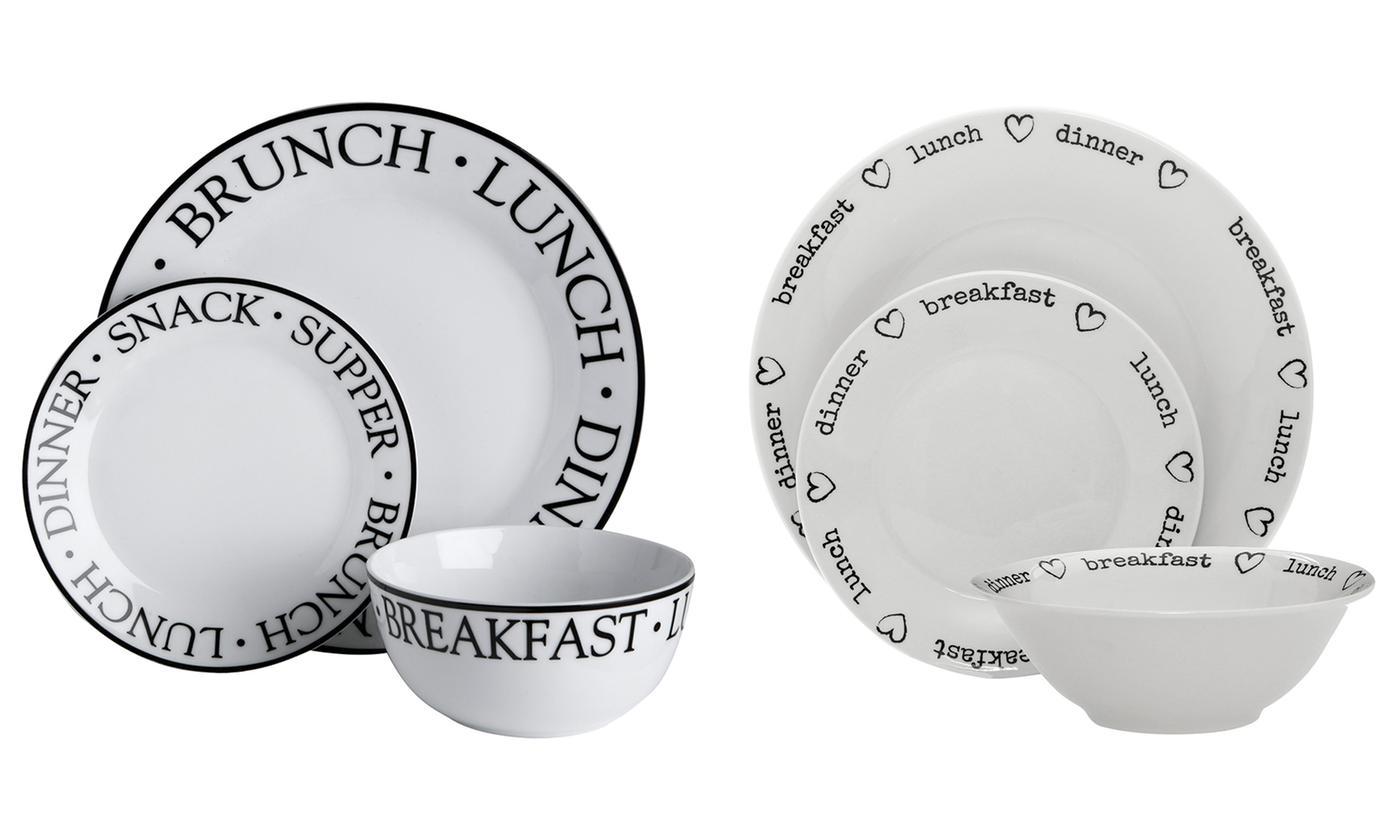 One or Two Premier Housewares 12-Piece Porcelain Dinner Sets