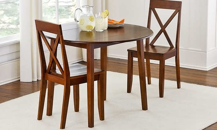 Drop leaf dining set groupon goods for Best deals on dining tables and chairs