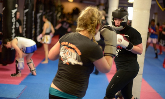 Muay Thai Niagara - St. Catharines: One Month of Unlimited Ladies' Thai-Boxercise or Coed Strength-and-Conditioning Classes (Up to 60% Off)