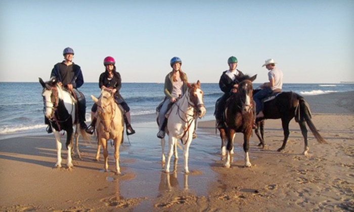 Virginia Beach Horseback - Northeast Virginia Beach: $65 for a One-Hour Beachside Horseback Ride for Two from Virginia Beach Horseback ($130 Value)
