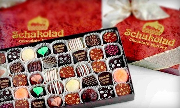 Schakolad Chocolate Factory - IN-STORE PICKUP: Handmade Confections at Schakolad Chocolate Factory (Half Off). Two Options Available.