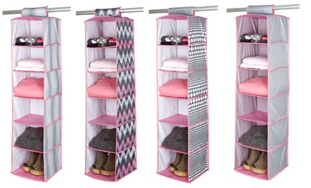 Six-Shelf Hanging Organizer. Multiple Designs Available.