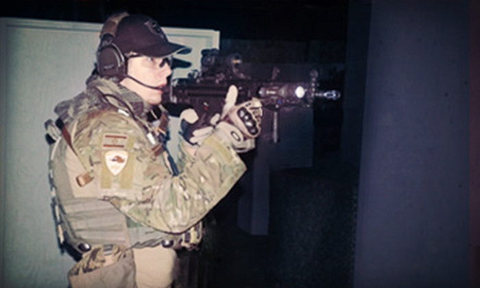 Tac-Ops Indoor Airsoft - Parkrose: $10 for Five Airsoft Missions with Equipment and 200 BBs at Tac-Ops Indoor Airsoft ($20 Value)