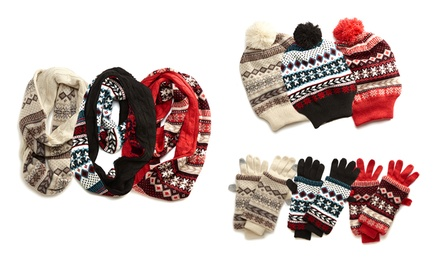 Muk Luks Women's Convertible Hat, Gloves, and Scarf Set