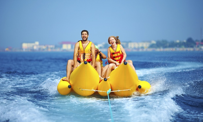 On the Beach Watersports - On The Beach Water Sports & Jet Ski Rental: Banana-Boat Ride for Four, Five, or Six People from On the Beach Watersports (Up to 59% Off)