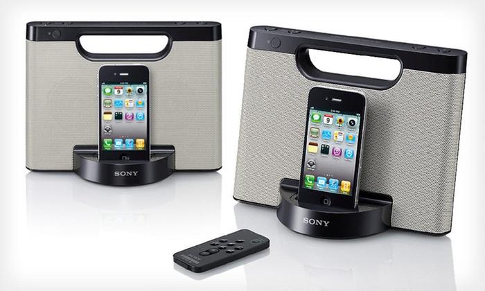 Sony iPod Speaker Dock: $48.99 for a Sony Portable iPod Speaker Dock ($80 List Price). Free Shipping.