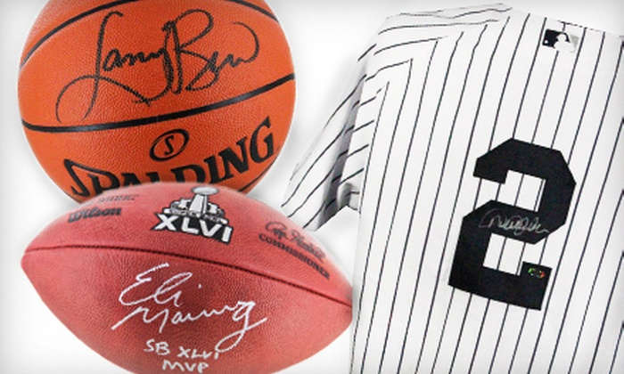 Steiner Sports: $49 for $100 Worth of Sports Jerseys and Memorabilia from Steiner Sports