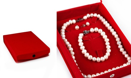Freshwater Cultured Pearls Jewellery Set: One ($49) or Two ($85)