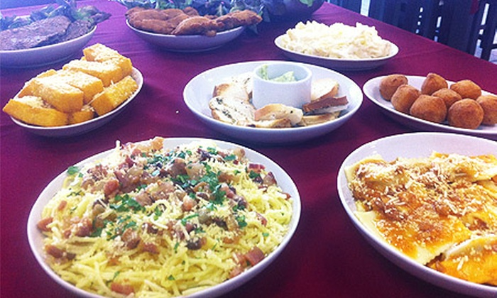 Restaurante Fratelli Gelain - Tradição - Caxias do Sul: Fratelli Gelain – São Ciro: Especial da Casa c/ entrada, 7 porções e sobremesa, para 2 pessoas, de R$ 70,00 por R$ 34,90
