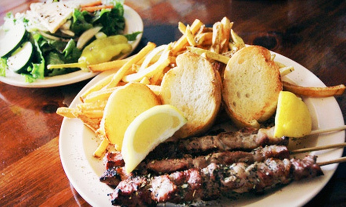 Byzantio Cafe & Bar - Neartown/ Montrose: Greek Food for Lunch or Dinner at Byzantio Cafe & Bar (Half Off)